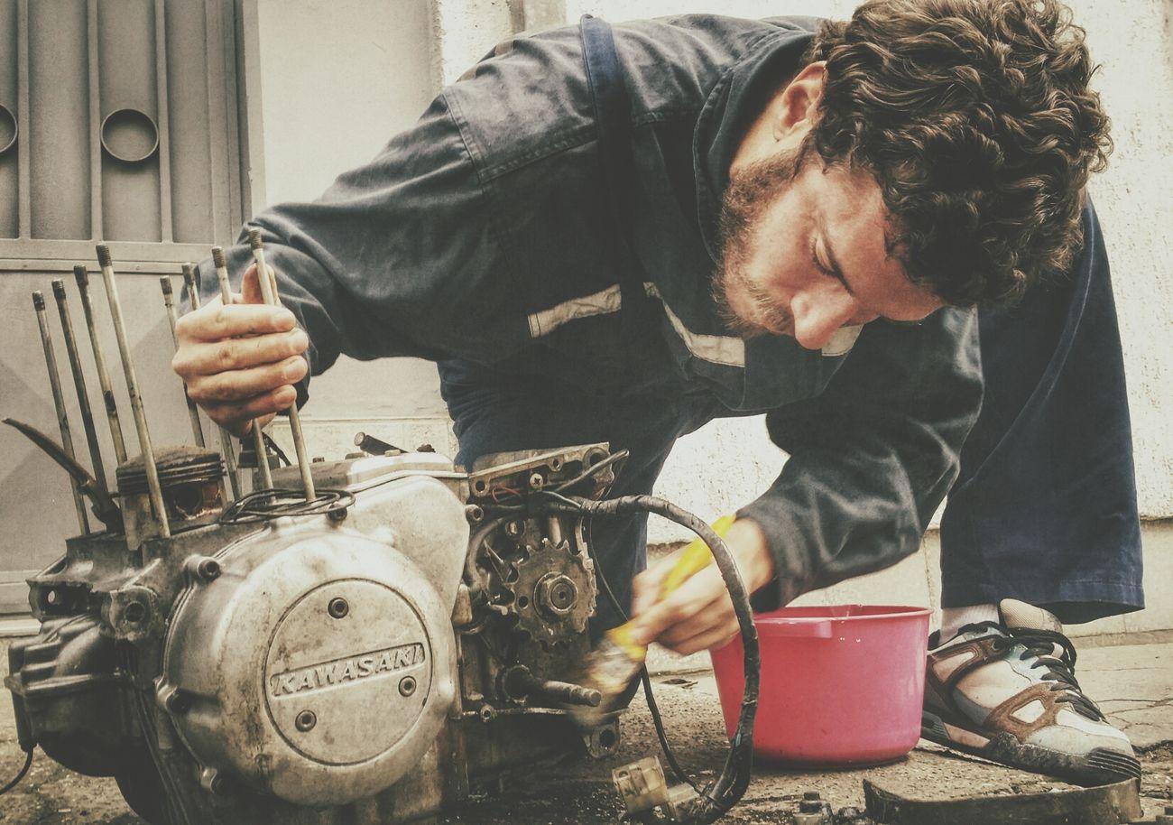 Cleaning Motor Kawasaki Retro