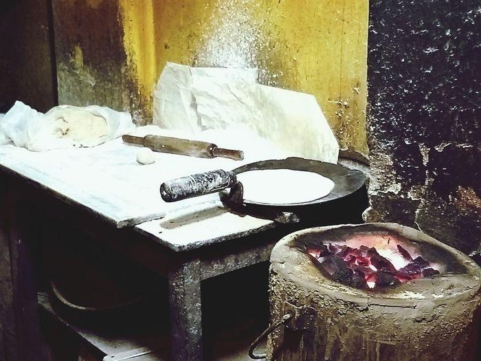 Roti maker... No Person Chulha Chapati Flour Coal