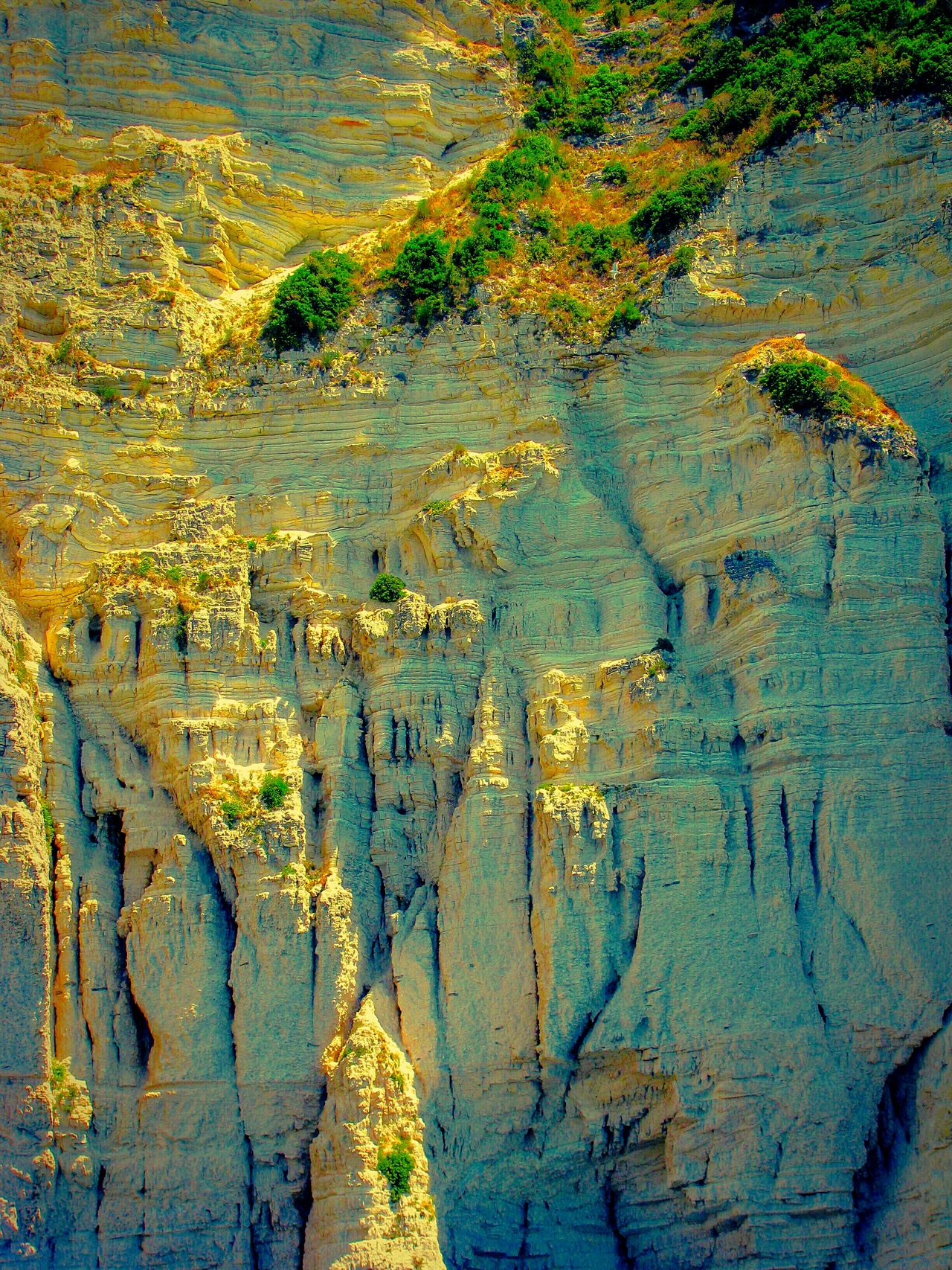 The KIOMI Collection Rock Rocks Rock Formation Wild Nature Greek Islands No People Shades Of Yellow Light And Shadow Showcase April Fine Art Wallpaper Cliff Cliffs Steep Cliff Nature