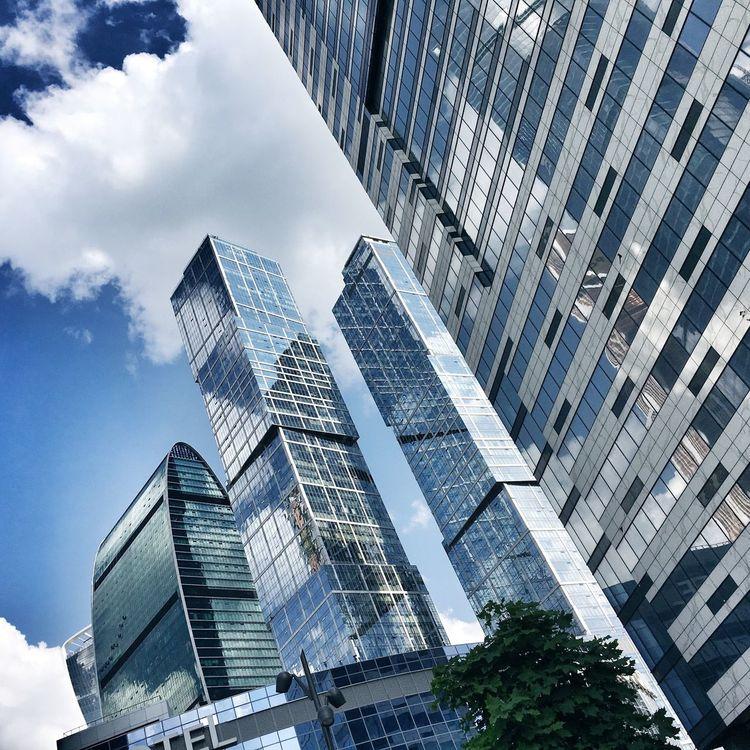 Moscow Skyline Skyscrapers Modern Moscow Urban Development Modern Architecture