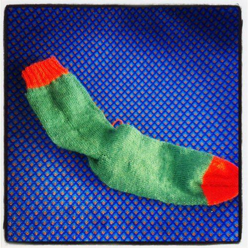 Just finished my first Irish Socks. But toooo late for Stpatricksday Maleknitting