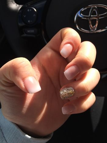 Just got my Nails done ☺️ cuz everything has to be Perfect 4 next week ❤️ Gold Glitter