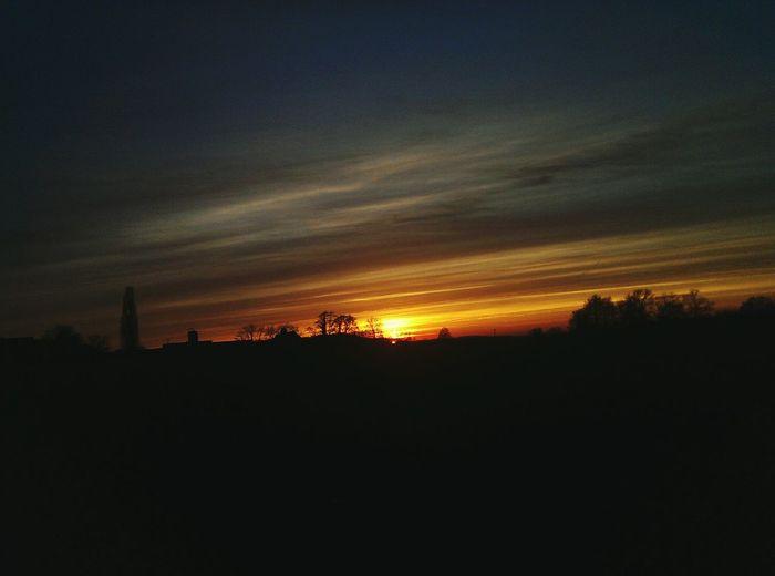 Sunset 😎 Sunset Sonnenuntergang Landleben Nostalgic  EyeEm Nature Lover Summer Vibes Nature