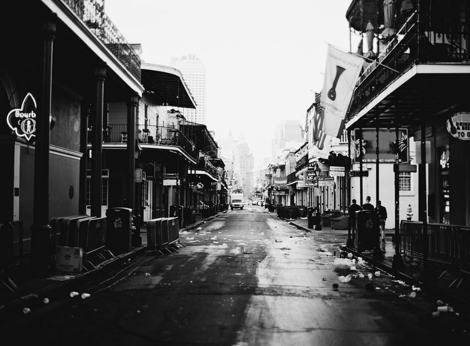 Bourbon Street. Blackandwhite New Orleans Enjoying Life