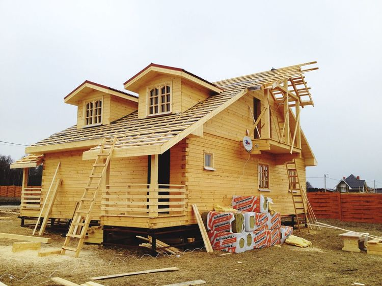 Building Exterior Building Wooden Pine Country House