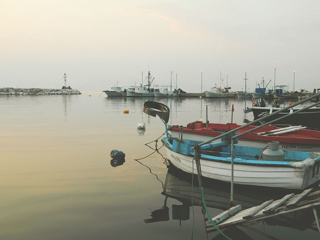 Taking Photos Beautiful Surroundings Time To Travel Twilight Sea And Sky Boats Nice Atmosphere Greece, Thasos