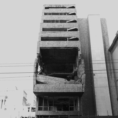 Bombed Generalstab Belgrade,Serbia Urban Geometry