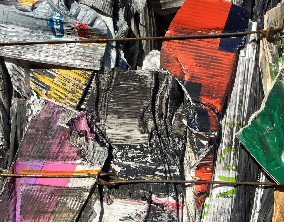 Multi Colored Full Frame Backgrounds Arrangement Material Outdoors No People Close-up Day Trash Recycle Rubbish