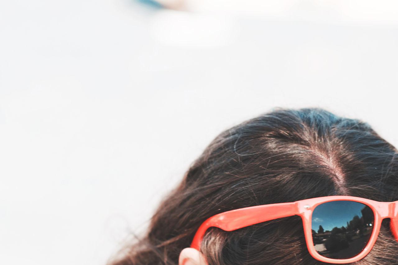 Red sunglasses California Child Childhood Children Only Close-up Day Eastshore Park Eye Mask Eyeglasses  Eyesight Eyewear Girls Headshot Human Body Part Human Eye Human Face Human Hair Lake Merritt One Person Outdoors People Real People Sunglasses USA White Background Sommergefühle