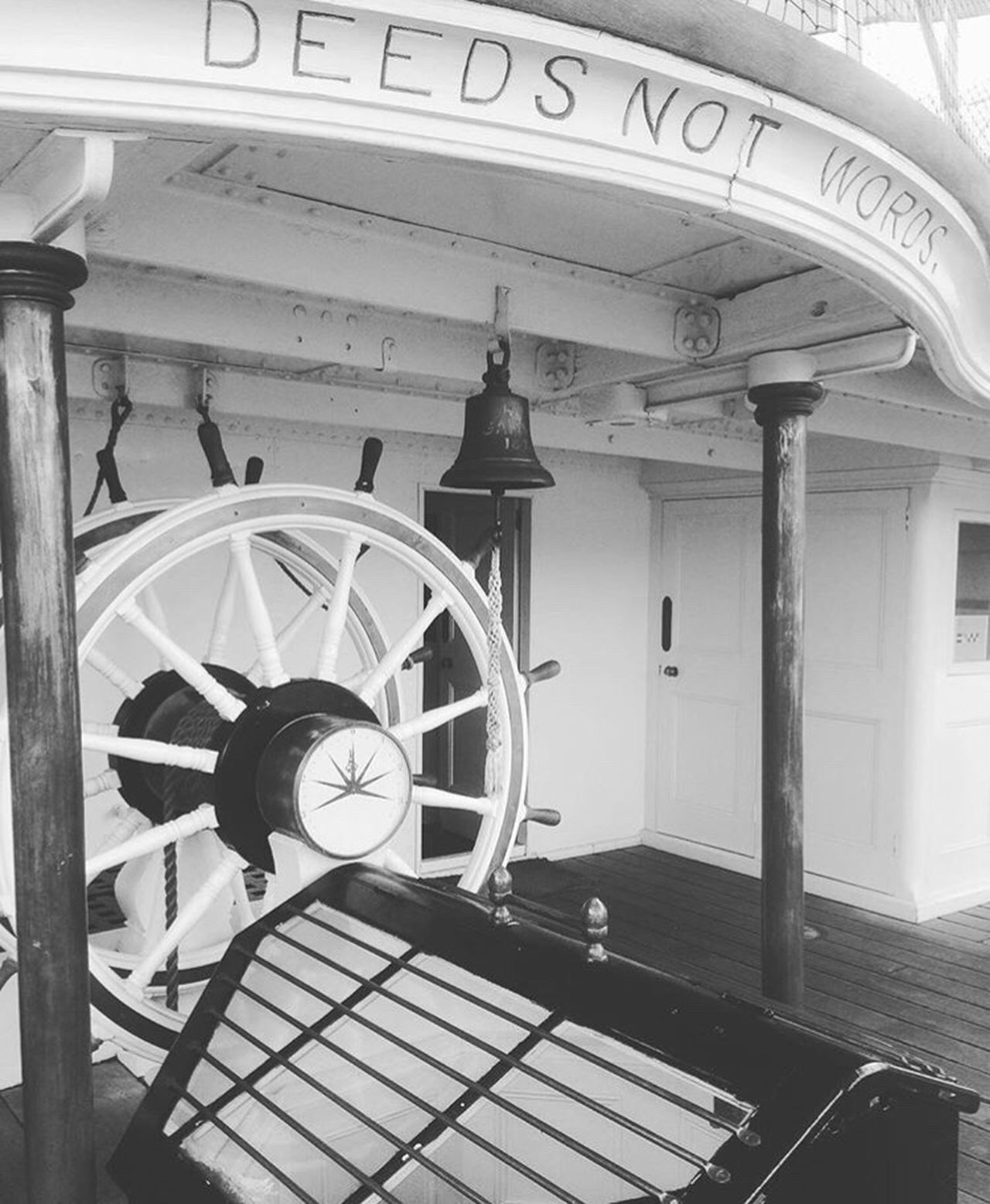 Deeds not words Built Structure Architecture No People Deeds Not Words Deeds Boat Dockyard Chatham Kent Dockside On A Boat