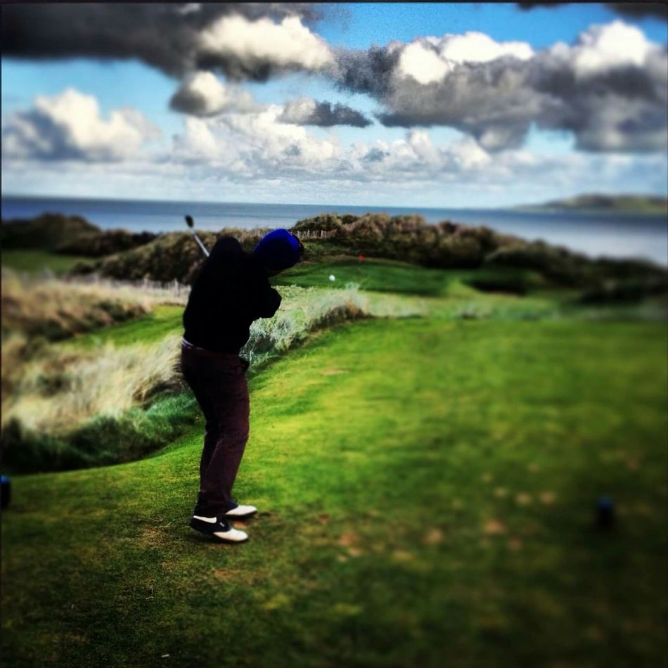 Irland Irlanda Outumn Play Playing Golf Golf Golf Is My Life ⛳️ Golfball Golfcourse Par Golf Green Green Golf Sea View