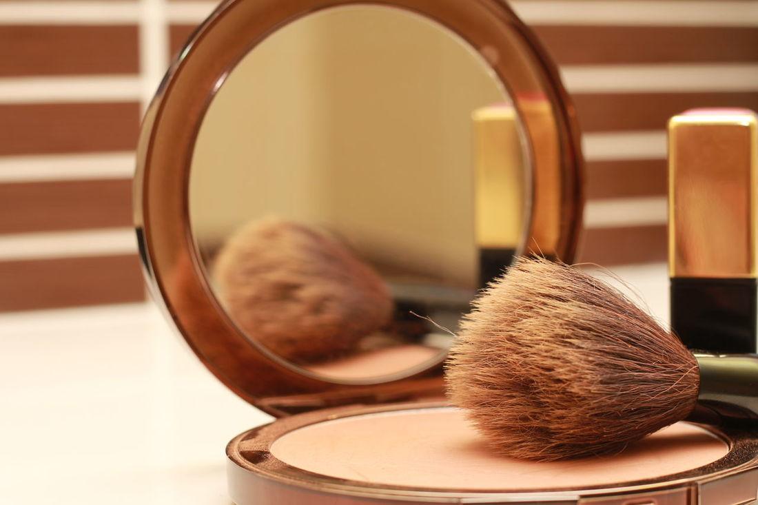Fond De Teint Miroir Pinceau Maquillage