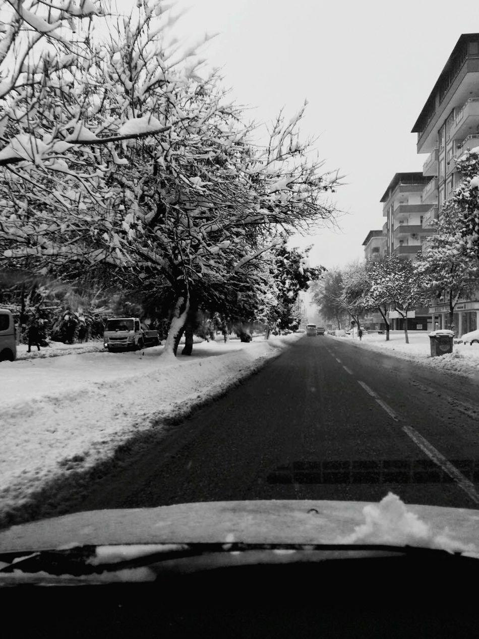 Kar Gaziantepkalesi Gaziantep Tree Snow Winter Car Cold Temperature City Day Nature Outdoors No People Snowing
