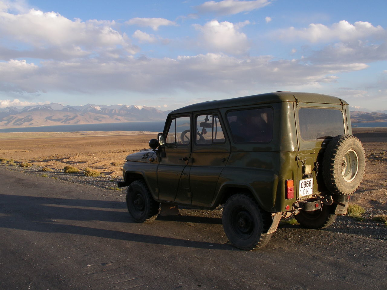 Russian 4x4 on the Pamir Highway, Tajikistan 4x4 Adventure Arid Climate Car Cloud - Sky Day Desert Land Vehicle Murghob Nature No People Off-road Vehicle Off-the-beaten-path Outdoors Pamir Pamir Highway Pamir Mountains Scenics Sky Sunset Tajikistan Transportation Fresh On Eyeem