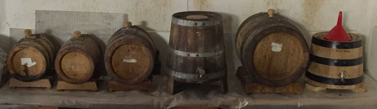 """My own """"Aceto Balsamico"""" barrel set Acetaia Acetobalsamico Barrel Boiled Must Made Different Woods Barrel Indoors  Long Time Ageing No People Traditional"""