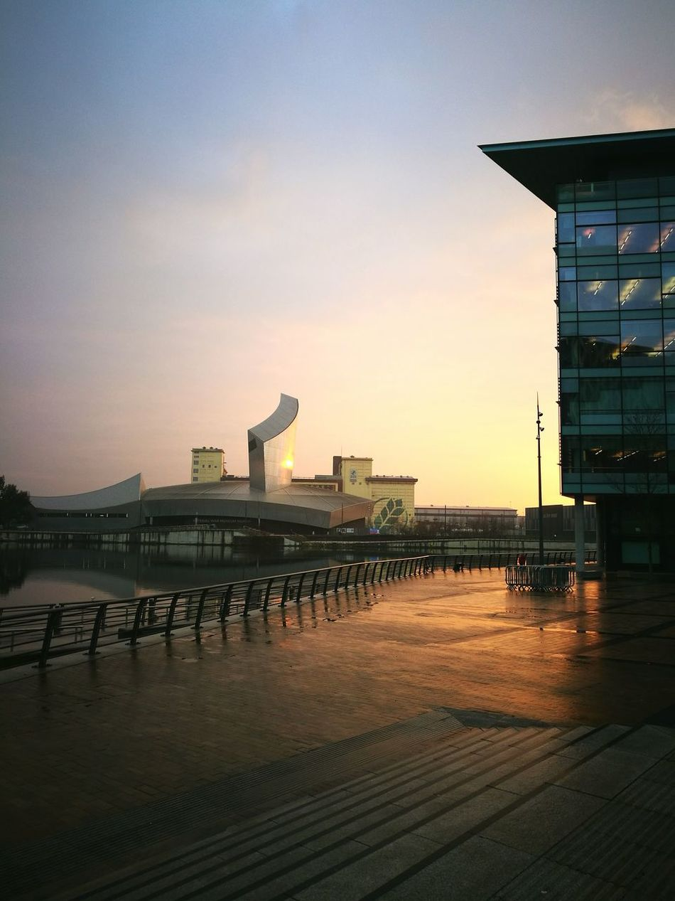 Travel Destinations City Travel Tourism Cultures Icon Sunset Vacations Architecture No People Water Cityscape Business Finance And Industry Landscape Night Outdoors Sky Mediacityuk Salford Manchester