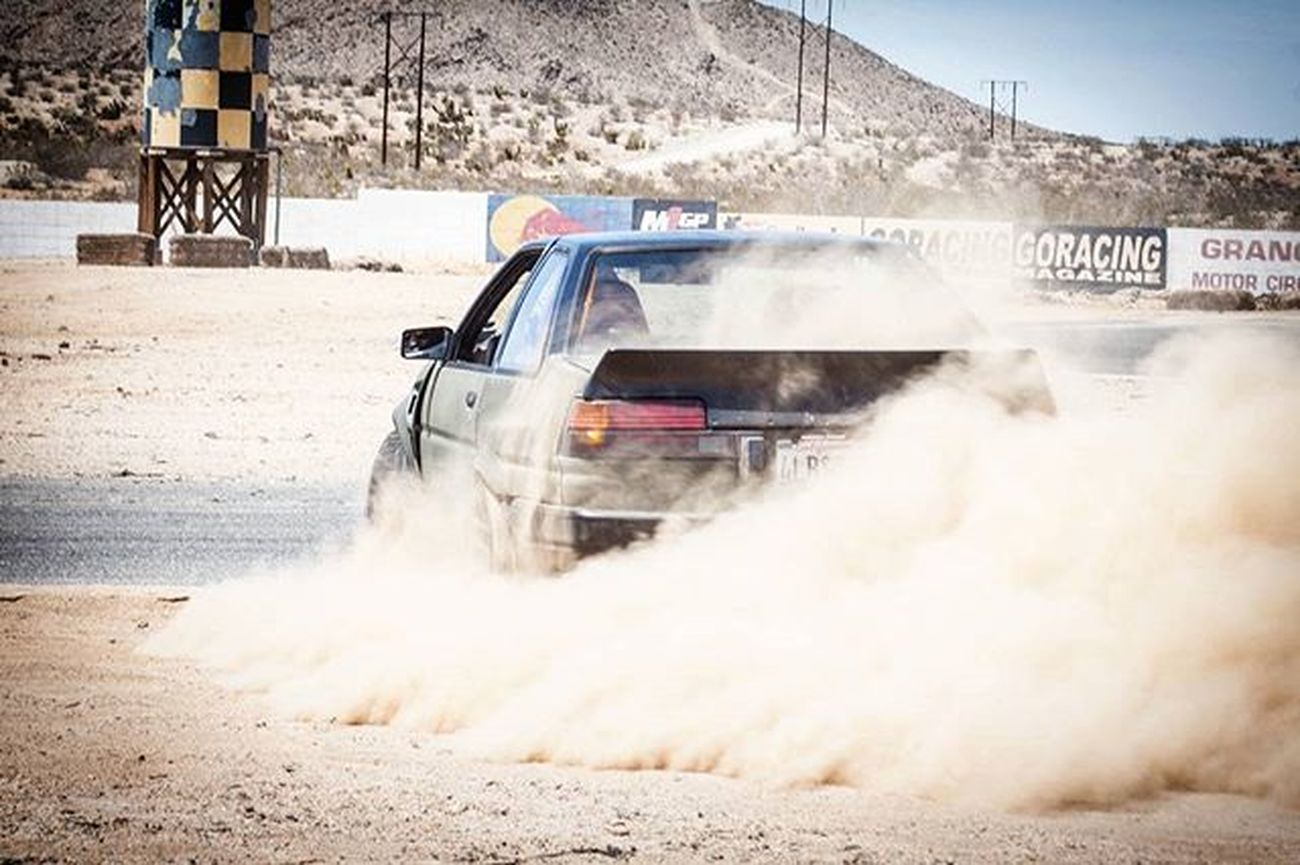 Just a lil spinout at Grange Tires Tireslayer Drift Drifting Jdm Ae86 Toyota Corolla Levin Trueno Rpms Angle Dirt Like Tag Follow