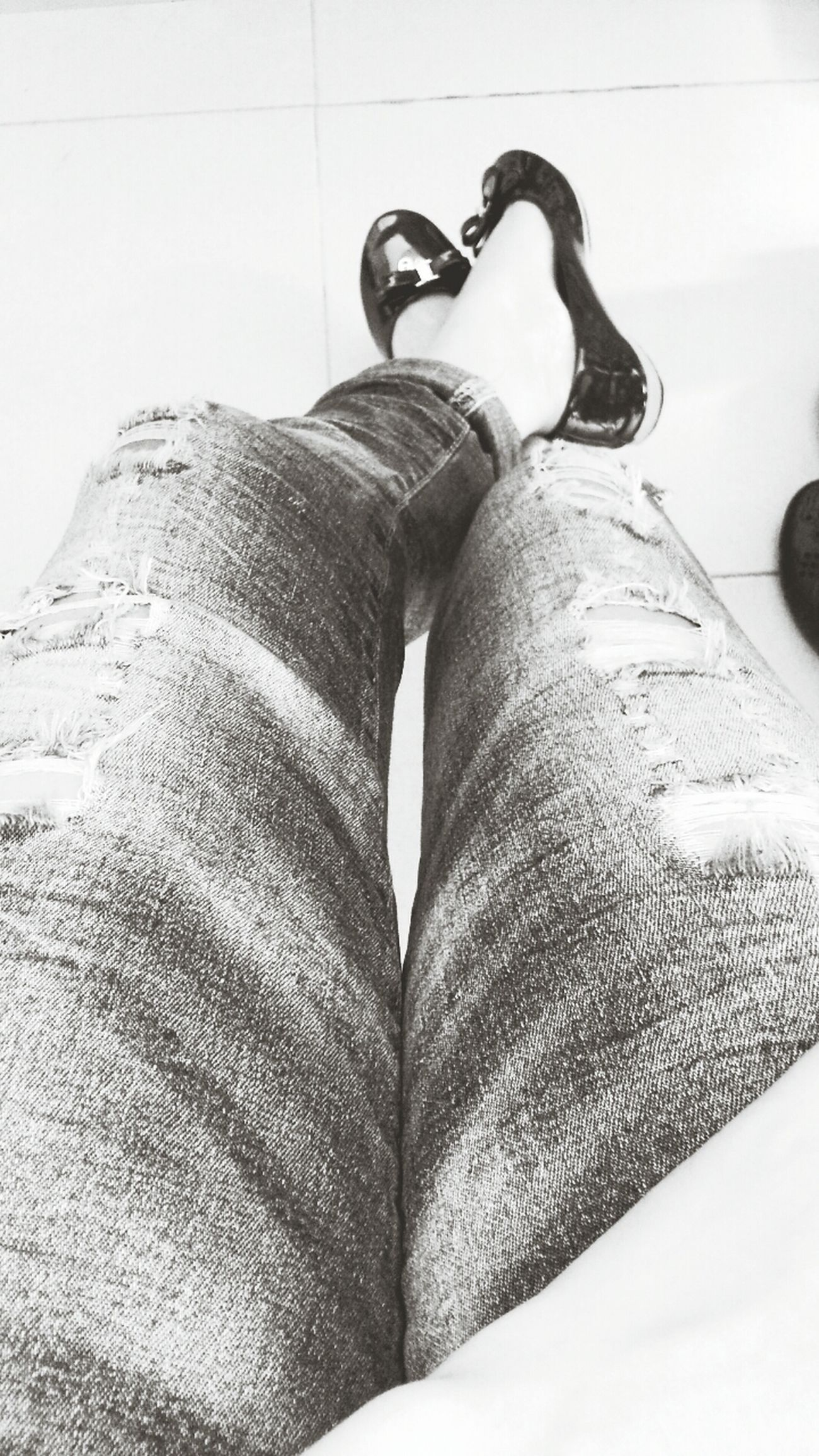 Foot… Jeans ..