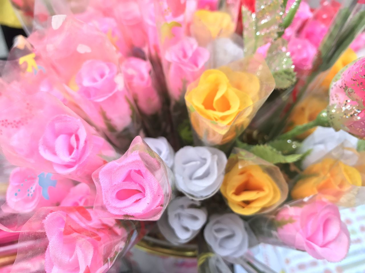 flower, pink color, rose - flower, petal, no people, close-up, multi colored, fragility, freshness, sweet food, flower head, nature, beauty in nature, day, indoors