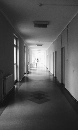 Into the light. Bnw VSCO Corridor Light And Shadow