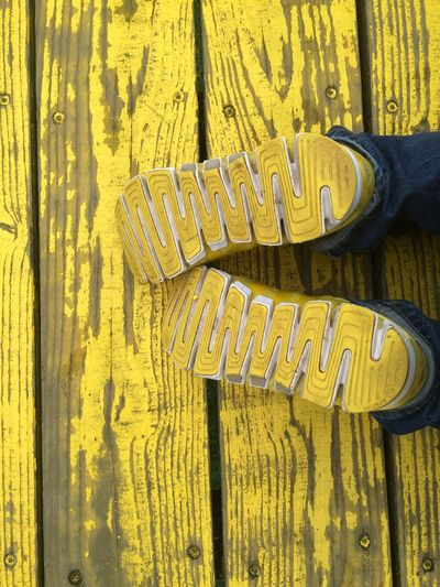 Yellow sneakers on a yellow Luchtsingel Pedestrian Bridge. Adidas Backgrounds Climacool Close-up Day Freshness Full Frame Luchtsingel Brug Netherlands No People Out Of The Box Outdoors Rotterdam Sneakerhead  Sneakers Urbanphotography Yellow Out Of The Box