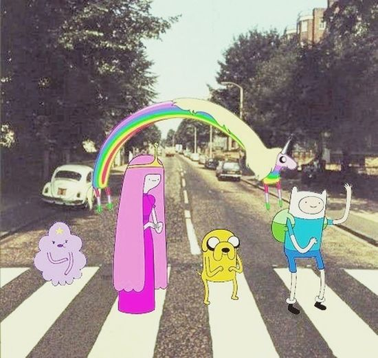Adventure time is life Adventure Time The Beatles Spoof