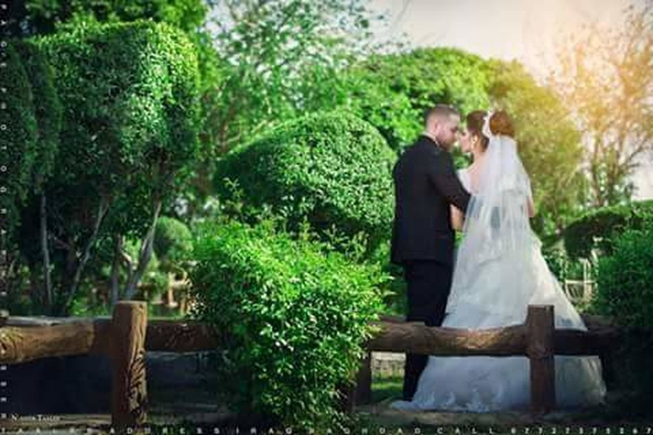 wedding, love, bride, togetherness, wedding dress, bridegroom, happiness, females, wife, romance, husband, adult, two people, men, women, married, life events, positive emotion, standing, celebration, young women, young adult, males, beautiful people, people, bonding, veil, blond hair, adults only, dedication, cheerful, outdoors, suit, day, smiling, tree