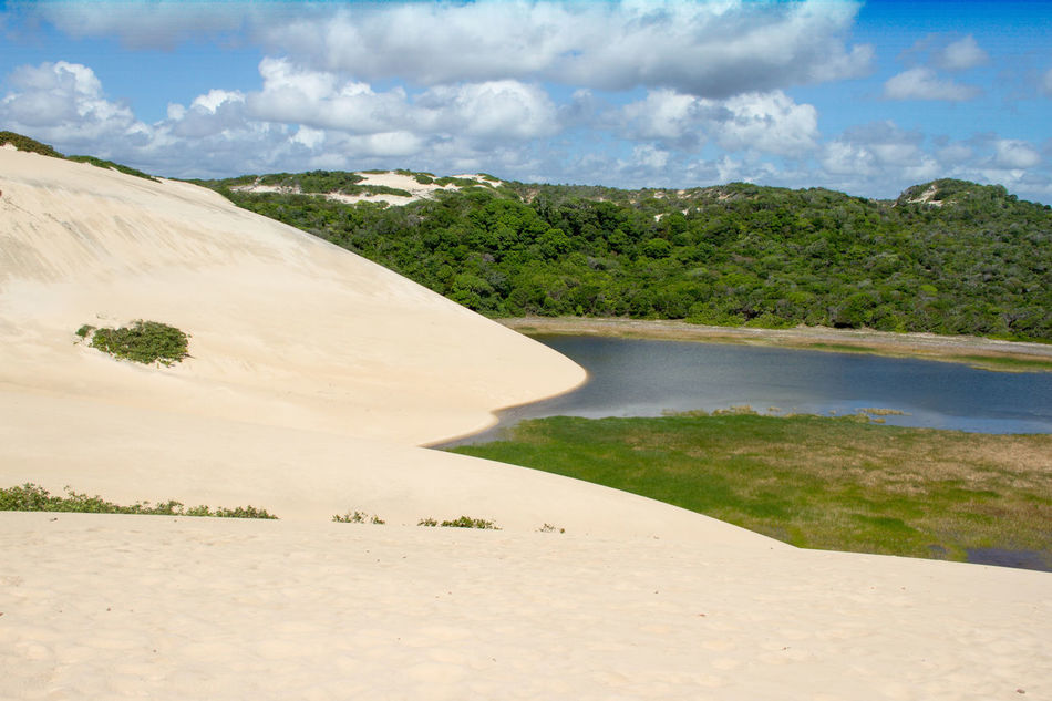 Beautiful view in Natal - Brazil Beach Beauty In Nature Brazil Cloud - Sky Day Desert Hot Landscape Natal Nature No People Outdoors Reservoir Sand Sand Dune Scenics Sky Summer Tree Vacations