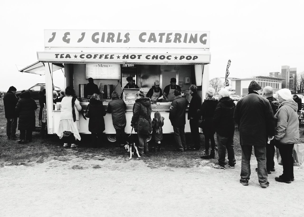 Catering Wagon Burger Van Views Of Britain Car Boot Queuing Blackandwhite