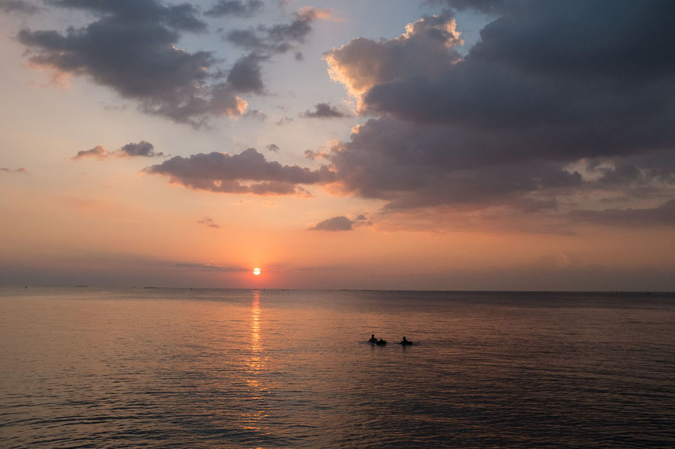 Atmosphere Beauty In Nature Cloud Cloud - Sky Dramatic Sky Horizon Over Water Idyllic Journey Majestic Nature Non-urban Scene Ocean Orange Color Scenics Sea Seascape Sky Sun Sunset Tourism Tranquil Scene Tranquility Vacations Water Waterfront