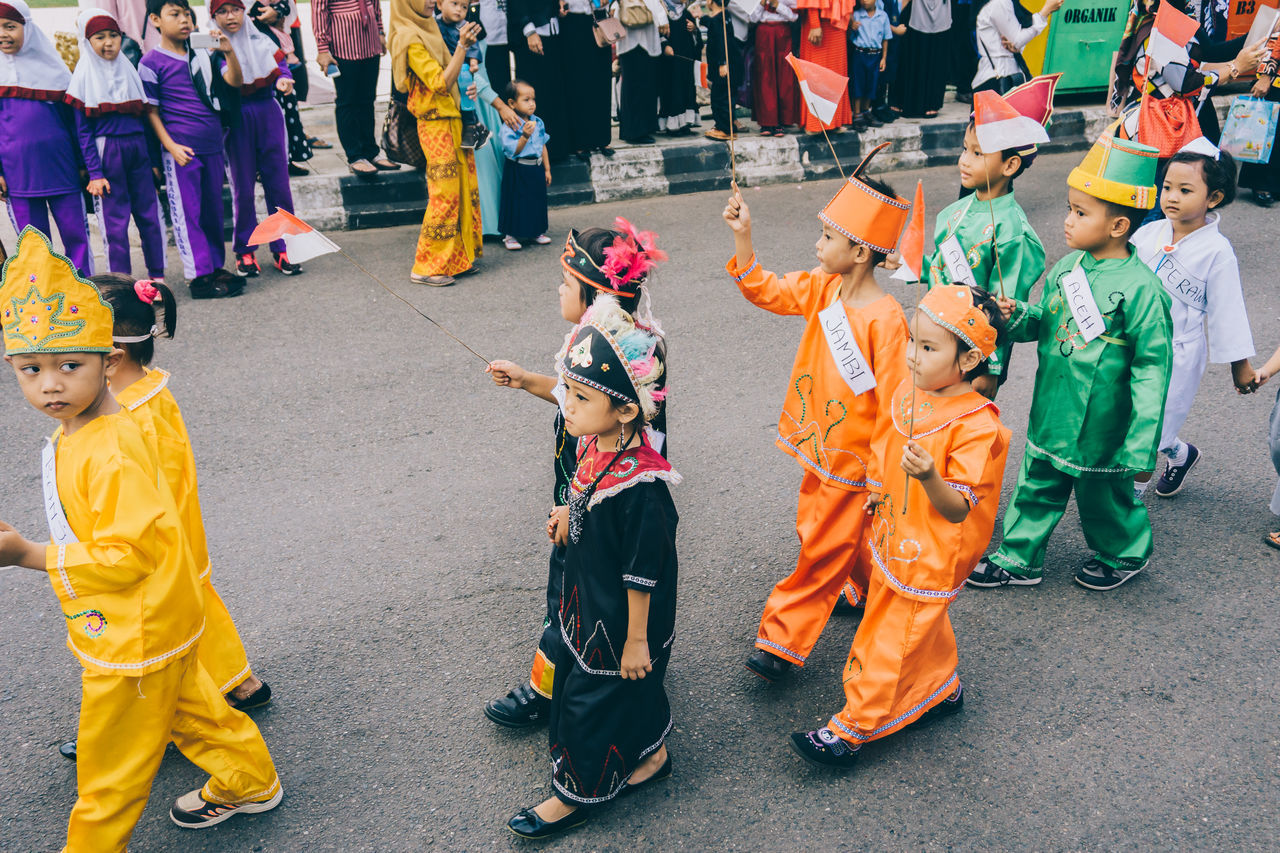kindergarten carnival Adult Arts Culture And Entertainment Carnival Crowds And Details City Crowd Cultures Day EyeEmNewHere Large Group Of People Lifestyles Men Music Outdoors Parade People Performance Playing Real People Street Street Photography Tradition Traditional Clothing Traditional Festival Women