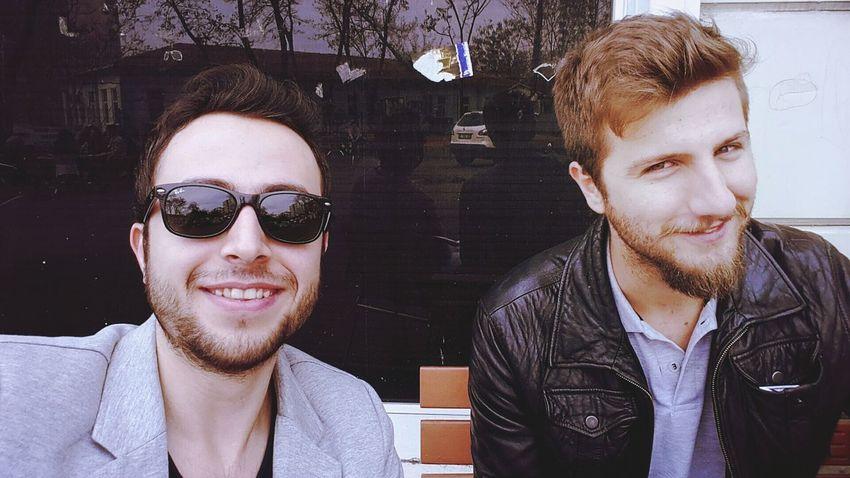 Friends Handsome At University Selfie