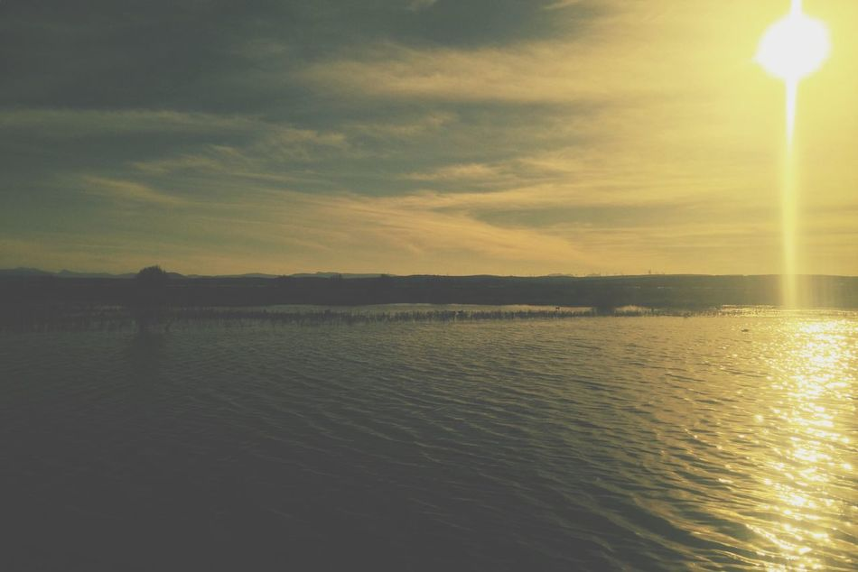 Peace and serenity Water Reflections Lagoon Water Horizon Over Water Textures And Surfaces Nature Creative Light And Shadow EyeEm Best Shots First Eyeem Photo Using The Roll App Exceptional Photographs Nature Textures IMography Retro Shadows & Lights Calm Golden Hour Minimalism