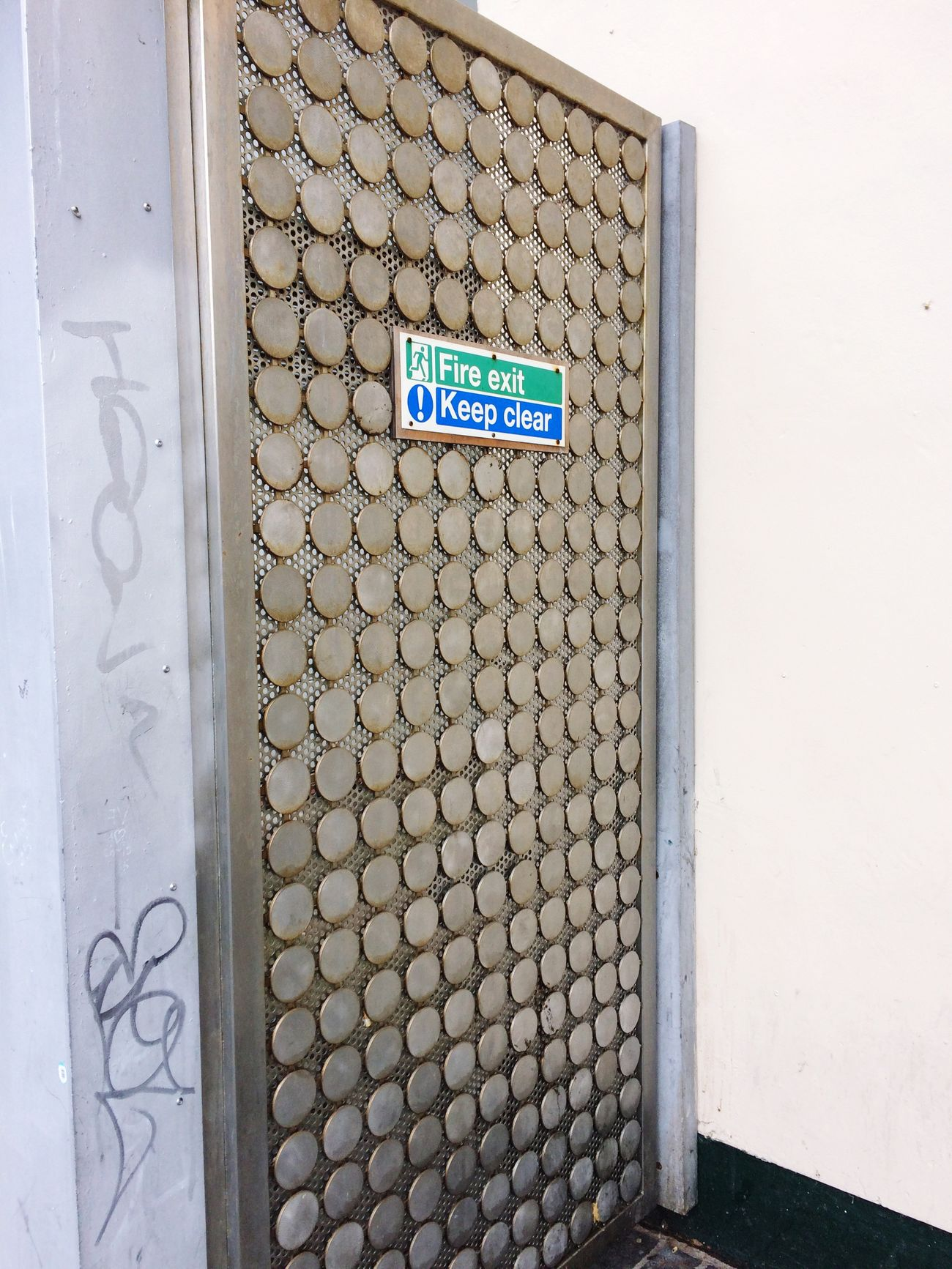 Exit Sign graffiti Liverpool citylife Communication