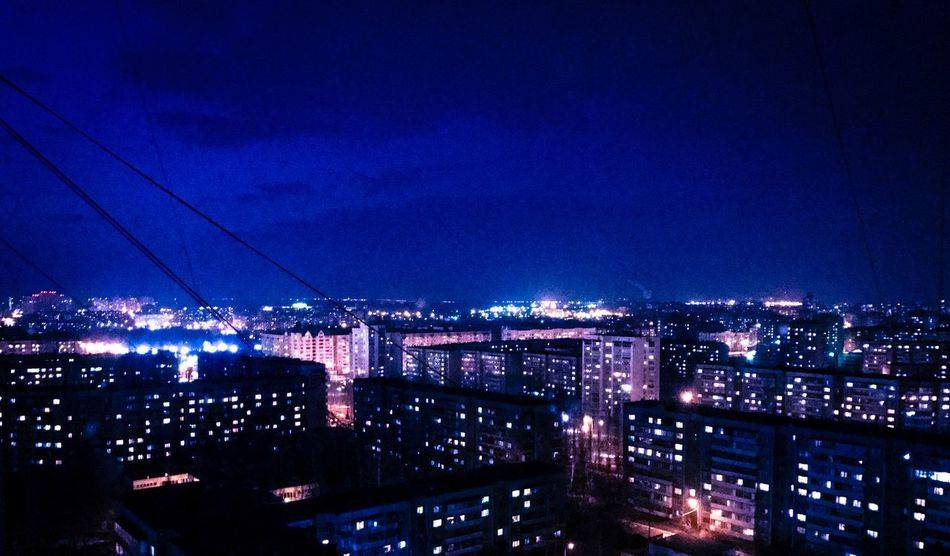 Sky Illuminated Architecture Building Exterior Night Built Structure City Blue Cityscape Electricity  Cloud - Sky Outdoors No People Connection Bridge - Man Made Structure Water липецк Lipetsk