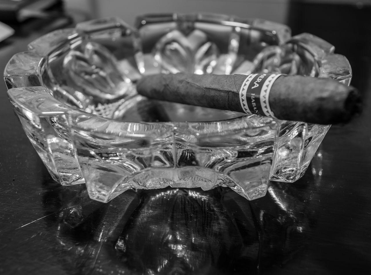 Ashtray  Black & White Black And White Photography Cigar Cigars Close Close-up Glass
