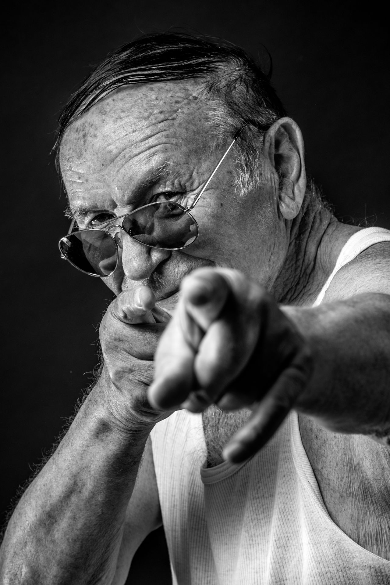 Adult Adults Only Black And White Black Background Black Background Blackandwhite Close-up Headshot Human Hand Looking At Camera Men One Person People Portrait Portrait Photography Senior Adult Senior Men Studio Photography Studio Shot The Portraitist - 2017 EyeEm Awards