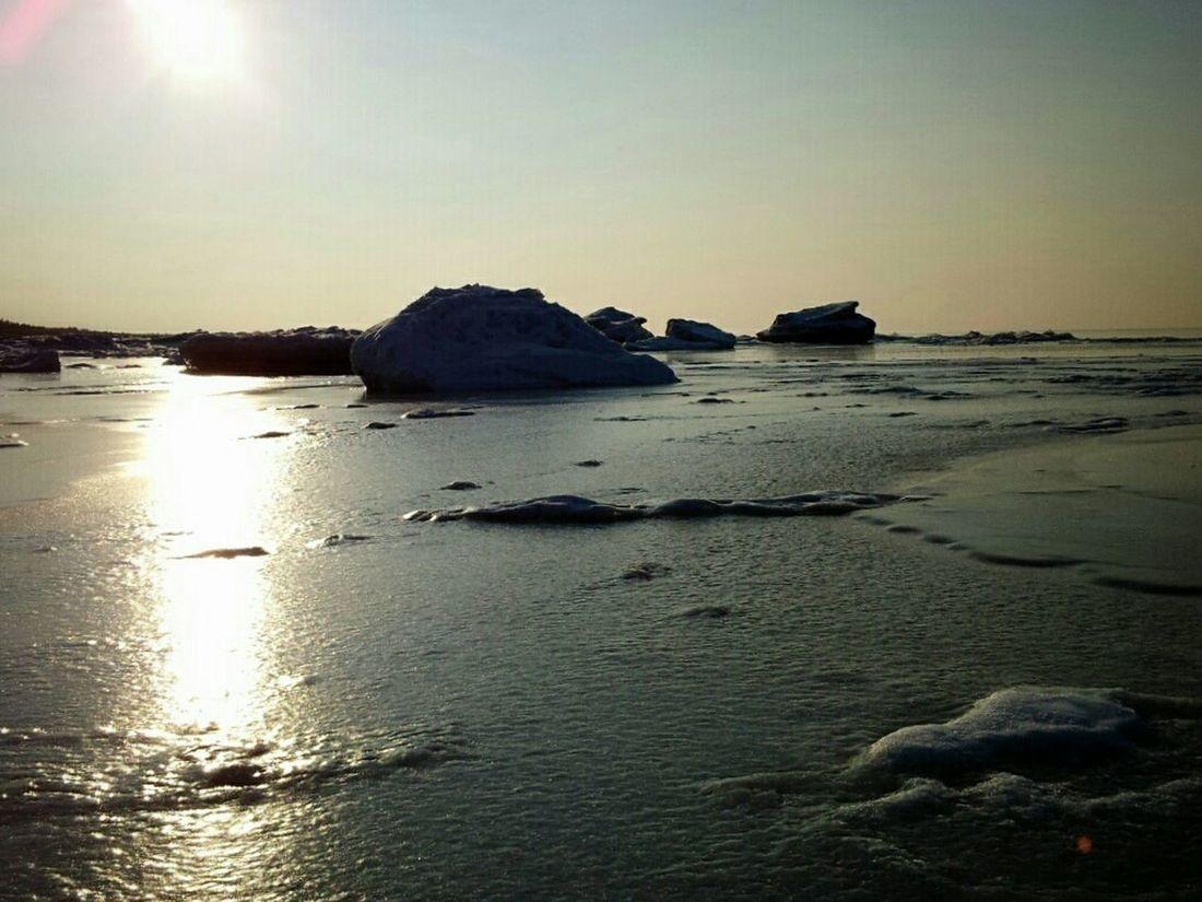 Frozen sea Winter Ice Walking Around Sea Latviabestcountry
