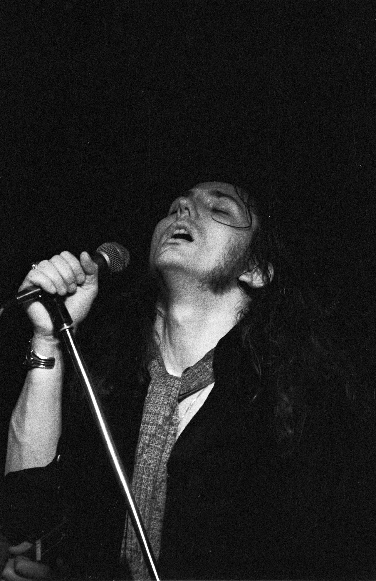 David Coverdale of Whitesnake at Lincoln College Of Technology March 3rd 1978 Blackandwhite Blues Jam Concert Photography Film Hp5 Ilford Live Music Microphone Music Rock Concert Rocknroll