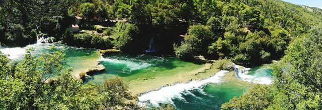 Panorama dans un parc national de Croatie :-) Croatia Landscape Panorama Krka