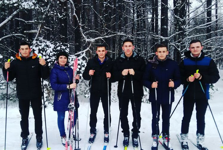 Winter Sport Skiing Young Men Young Adult Togetherness Young Women People Soccer Player Standing Adults Only Night Teamwork Outdoors Adult Only Men Sports Team First Eyeem Photo