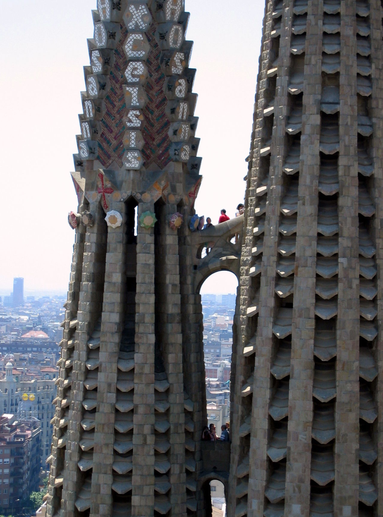 Architecture Barcelona Building Exterior Built Structure City Clear Sky Day Gaudi Modern No People Outdoors S Sky Skyscraper Travel Destinations