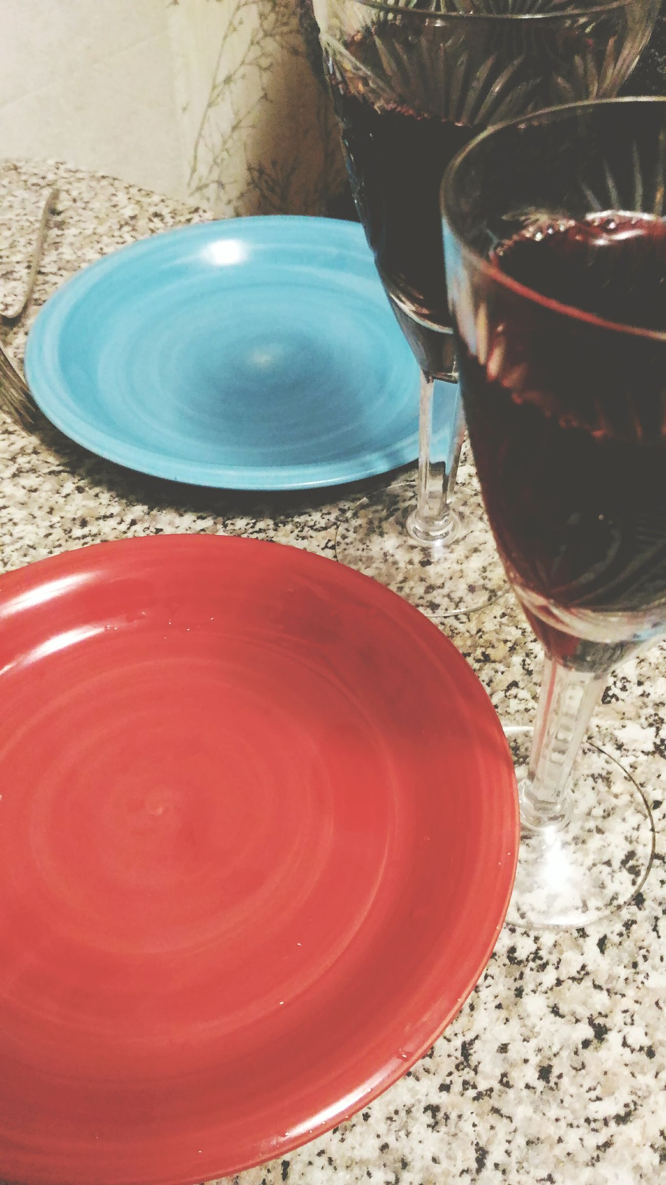 Dinnertime! Dinner With Friends Dinner Time Dinner Dinnertime Dinner Tonight Plates Plate Redplate Blueplate Wine Wineglass Wine Time Wine Glass Winetasting