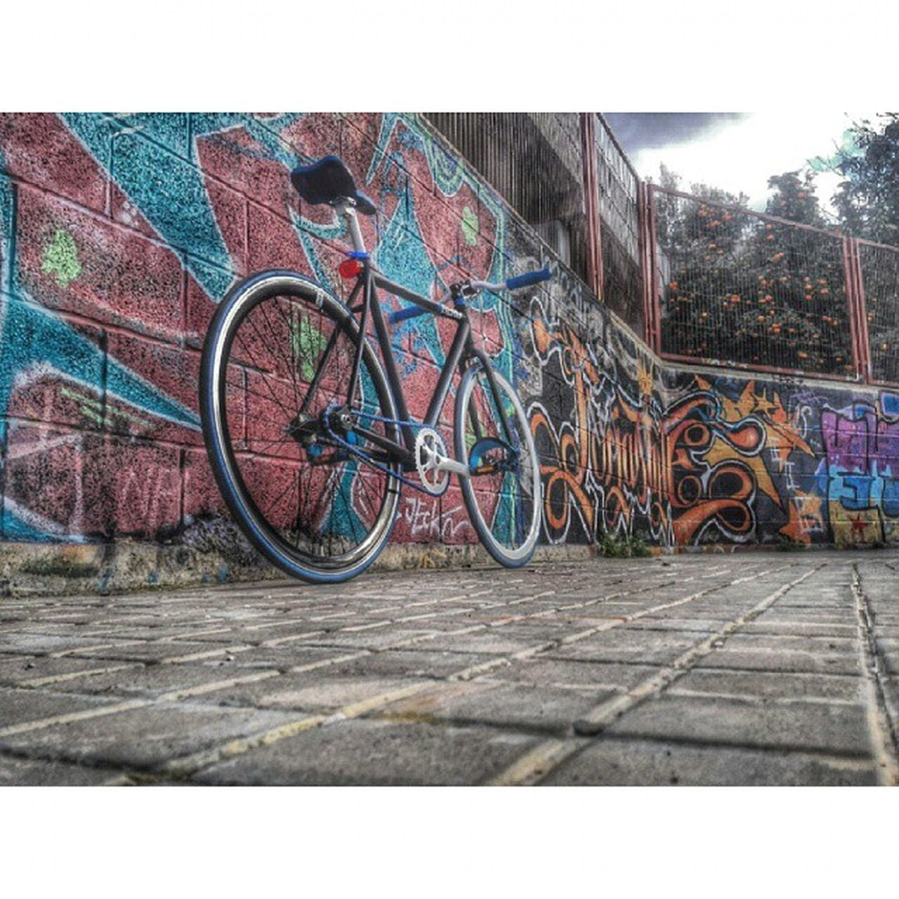 bicycle, transportation, mode of transport, outdoors, land vehicle, no people, day, bicycle rack, city, sky