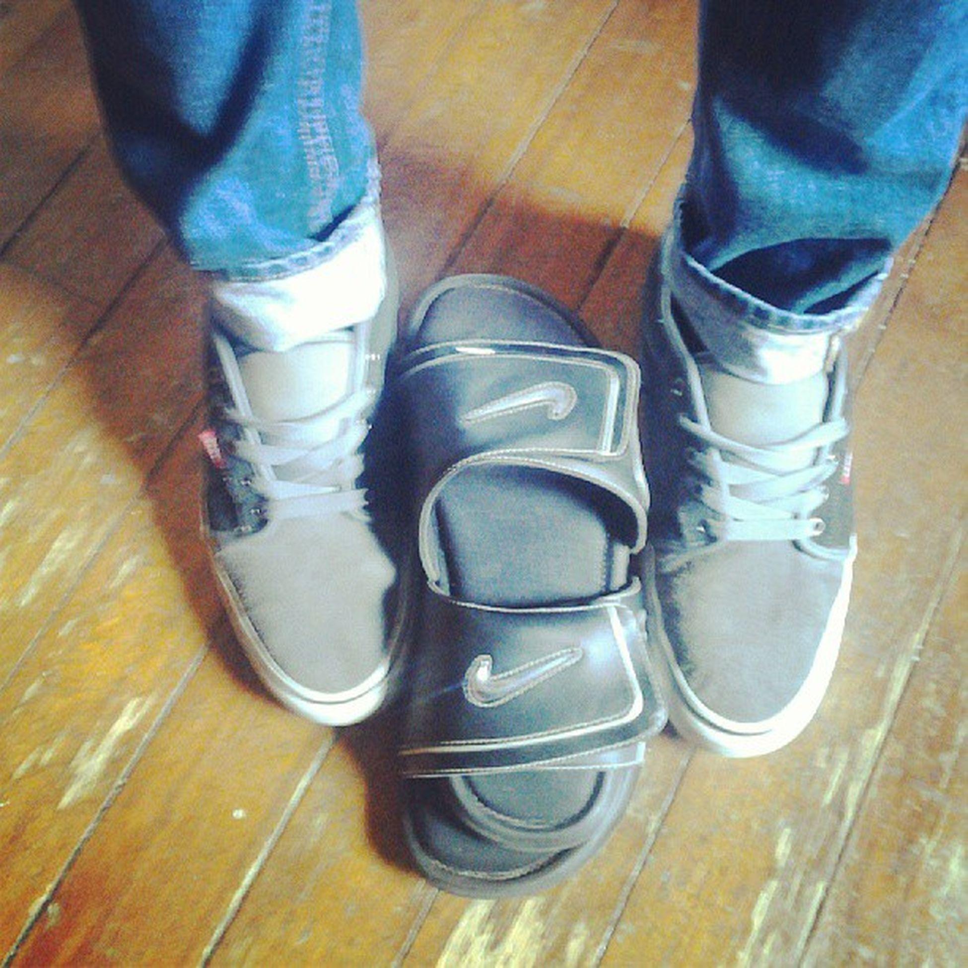 Nike Vans Hollisterskinnies Cuffed grey black silver slides Swag yupyup