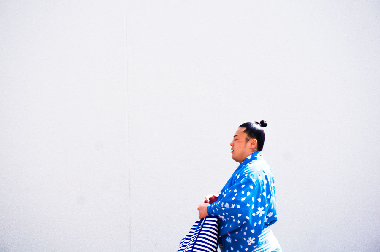 blue day EyeEmNewHere lifestyles men one person outdoors real people Standing sumo