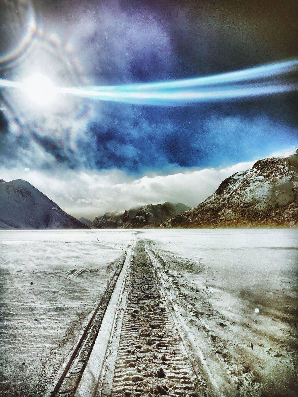 Besseggen Memurubu Norway Mountain Scooter Work Valdres Lom Snow