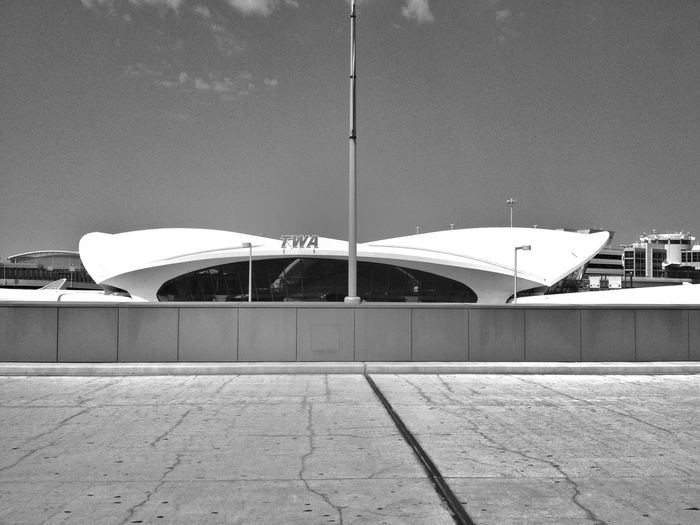 The lovely TWA - Terminal 5 at JFK Blackandwhite TWA - Terminal 5 JFK Modern Architecture