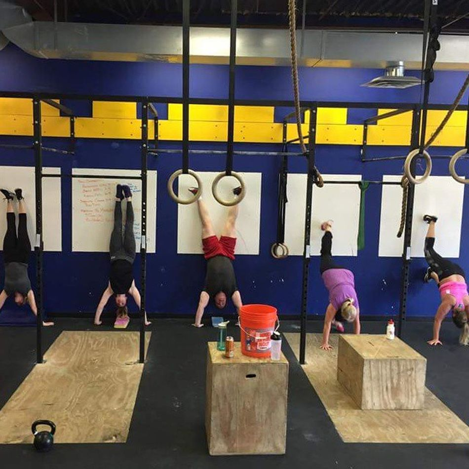 "Always a fun time at Undisputed. Today a group of us tested a classroom metcon and it reminded me of a coaching tip I got when I was new to coaching, ""You can always test the workouts you put together"" Undisputedsc Crossfit HellcatCrossFit Crossfiteagan training metcon tester"