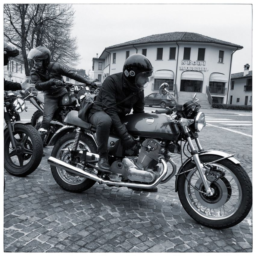 Milano Cafe Racer MCR Black And White Photography Fortheloveofblackandwhite Cafe Racer Motorcyclepeople Laverda Vintage Style